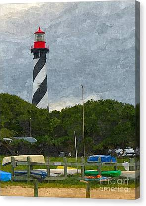Rack Canvas Print - St. Augustine Lighthouse Boat Ramp by Jennifer Capo