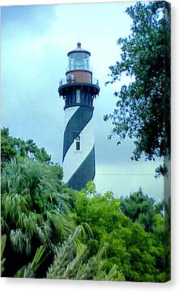 Canvas Print featuring the photograph St Augustine Lighthouse by Frederic Kohli