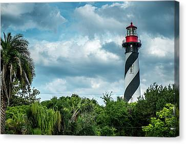 Canvas Print featuring the photograph St. Augustine Lighthouse by Louis Ferreira
