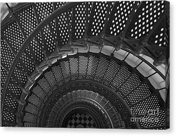 St. Augustine Lighthouse Spiral Staircase I Canvas Print by Clarence Holmes