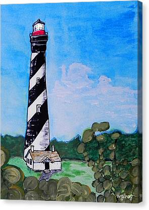 St. Augustine Lighthouse Canvas Print by W Gilroy
