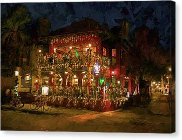 Canvas Print featuring the photograph  St. Augustine Meehan's Pub by Louis Ferreira