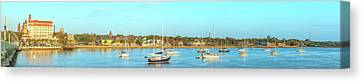 Canvas Print featuring the photograph St Augustine Panorama by Sebastian Musial