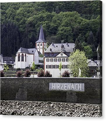 Historic Canvas Print - St Bartholomew Catholic Church In Hirzenach Germany by Teresa Mucha