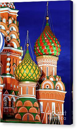 St Basils Cathedral In Moscow Russia Canvas Print by Oleksiy Maksymenko