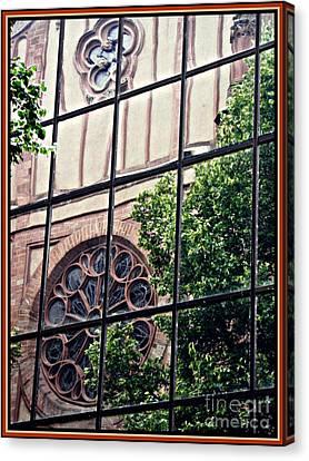St Boniface Church In Reflection  Canvas Print by Sarah Loft