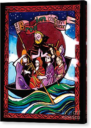 St. Brendan The Navigator - Mmbre Canvas Print by Br Mickey McGrath OSFS