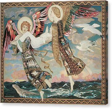 Seagulls Canvas Print - St. Bride by John Duncan