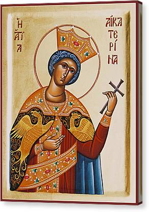 St Catherine Canvas Print by Julia Bridget Hayes