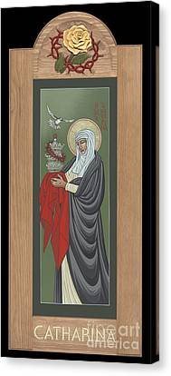 Canvas Print featuring the painting St Catherine Of Siena With Frame by William Hart McNichols