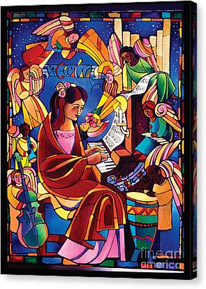 St. Cecilia - Mmcca Canvas Print by Br Mickey McGrath OSFS