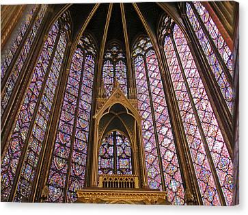 St Chapelle Paris Canvas Print by Alan Toepfer