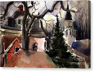 St. Charles Borromeo Church From Hill's Alley Canvas Print by Charlie Spear