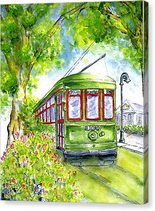 St. Charles Streetcar New Orleans Canvas Print by Catherine Wilson