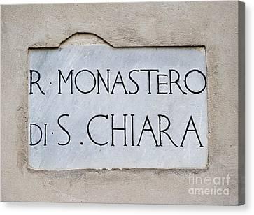 St. Chiara Monastery Canvas Print by Massimo Lama