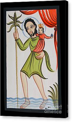 St. Christopher - Aochr Canvas Print by Br Arturo Olivas OFS
