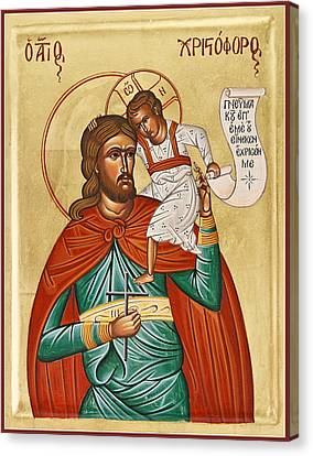 St Christopher Canvas Print by Julia Bridget Hayes