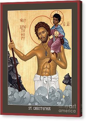 St. Christopher - Rlctr Canvas Print by Br Robert Lentz OFM