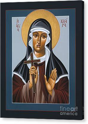 St Clare Holding The Jewelled Cross 041 Canvas Print by William Hart McNichols