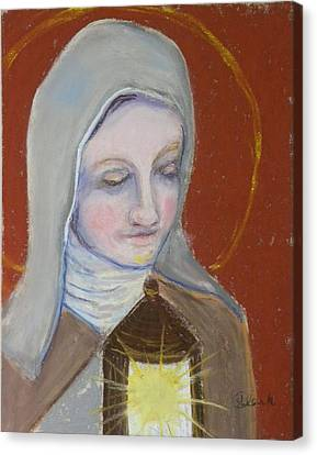 St. Clare Of Assisi II Canvas Print by Susan  Clark