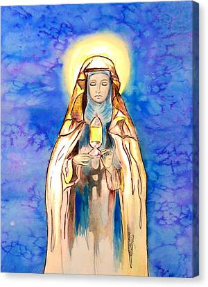 St. Clare Of Assisi Canvas Print by Myrna Migala