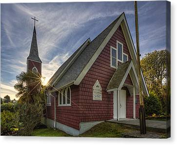 British Columbia Canvas Print - St. Columba Church - Tofino by Mark Kiver