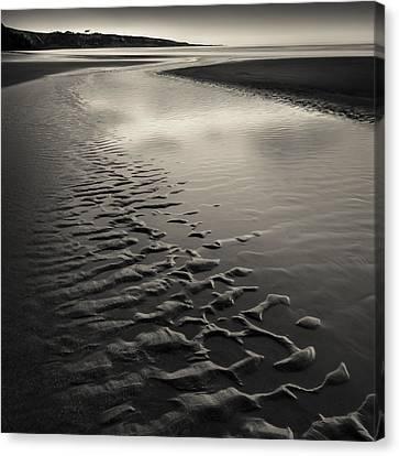 St Cyrus Sand Ripples Canvas Print by Dave Bowman