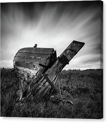 Saint Canvas Print - St Cyrus Wreck by Dave Bowman