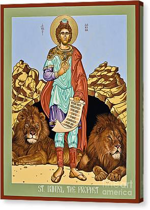St. Daniel In The Lion's Den - Lwdld Canvas Print by Lewis Williams OFS