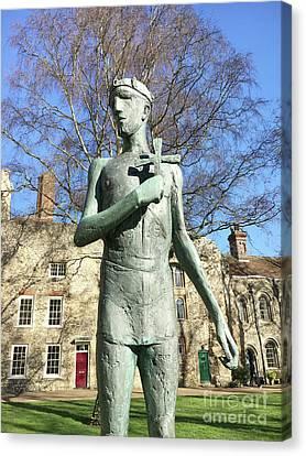St Edmunds Statue Canvas Print by Tom Gowanlock