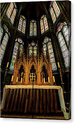 Canvas Print featuring the photograph St. Elizabeth Church by David Morefield