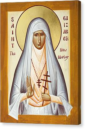 St Elizabeth The New Martyr Canvas Print - St Elizabeth The New Martyr by Julia Bridget Hayes