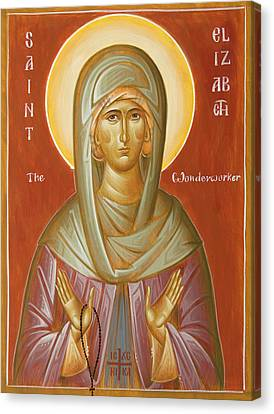 St Elizabeth The Wonderworker Canvas Print by Julia Bridget Hayes