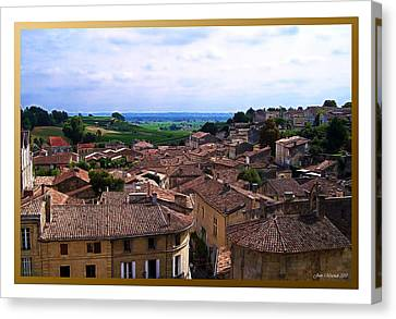 Canvas Print featuring the photograph St. Emilion View by Joan  Minchak