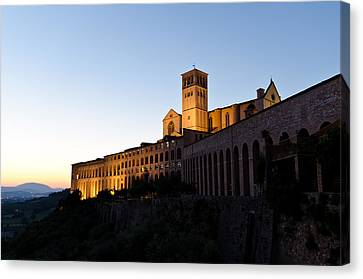 St Francis Assisi At Sundown Canvas Print by Jon Berghoff