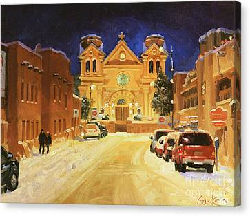 St. Francis Cathedral Basilica  Canvas Print by Gary Kim