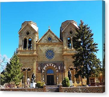 St. Francis Cathedral Santa Fe Nm Canvas Print by Joseph Frank Baraba