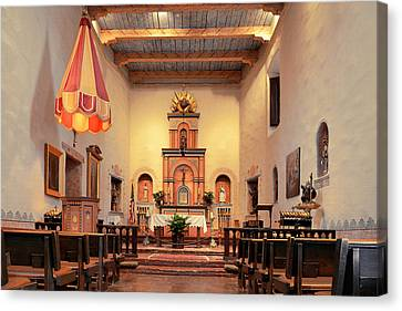 Canvas Print featuring the photograph St Francis Chapel At Mission San Diego by Christine Till