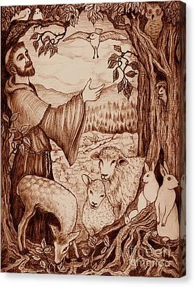 St. Francis Canvas Print by Debra A Hitchcock