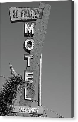St Francis Motel Stockton Ca Canvas Print by Troy Montemayor