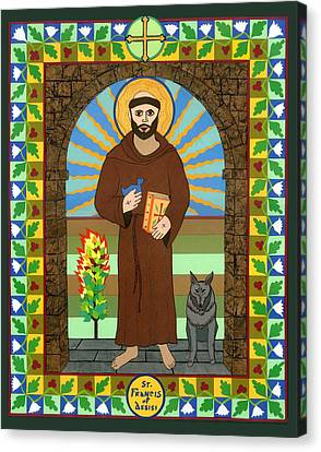 St. Francis Of Assisi Icon Canvas Print by David Raber