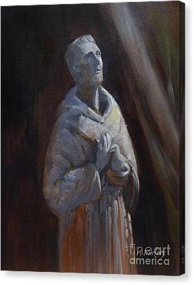 St. Francis Of Assisi Statue Canvas Print by Karen Winters