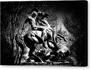 St. George And The Dragon Canvas Print by Bill Cannon