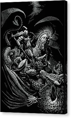 St George Canvas Print - St. George And The Dragon by Stanley Morrison