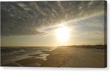 St George Island Sunset I Canvas Print by Peg Toliver