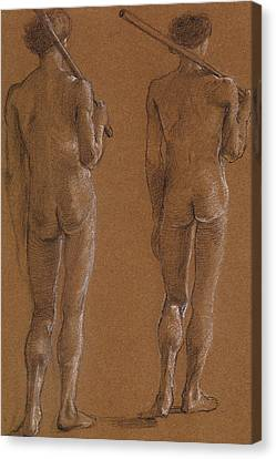 St George Series Male Nude Canvas Print by Edward Burne-Jones