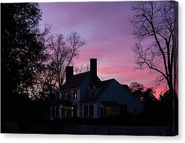 St George Tucker House At Sunset Canvas Print