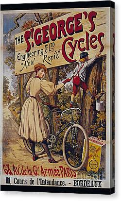 St Georges Cycles Vintage Cycle Poster Canvas Print by R Muirhead Art
