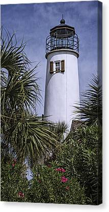 St George's Island Lighthouse Canvas Print by Joan Carroll
