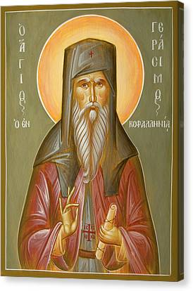 St Gerasimos Of Kefalonia Canvas Print by Julia Bridget Hayes